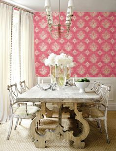 Pink in the Dining Room