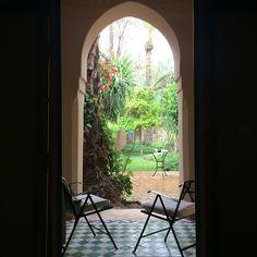 Door on the garden @Hotel Les Deux Tours Marrakech by eye_nez - april 2014