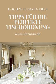 Tipps für die Tischordnung / Sitzplan / Sitzordnung für die Hochzeit.