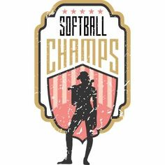 Vector graphic Softball champions for t-shirt designs