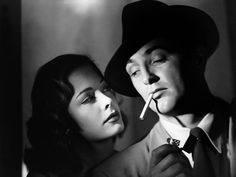 Jane Greer and Robert Mitchum in Out of the Past (1947).