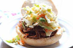 Kentucky Pulled Pork with Pineapple Cole Slaw