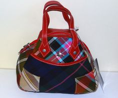 NWT Vivienne Westwood Winter Tartan Medium BAG Authentic Leather Made IN Italy | eBay