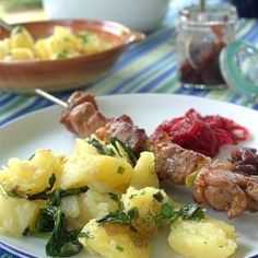 Potatoes with grilled pork