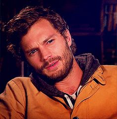 "Jamie Dornan - ""So..."" I completely forgot what I was saying...  hhmmm Yeah!"