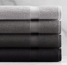Restoration Hardware - 802-Gram Turkish Towel Collection.  I have one of each of the shades shown.  Very soft, absorbent and hefty.  I like them and will enjoy adding them my black and white bathroom.