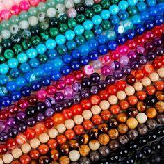 Diy4 6//8//10//12mm Natural Stone Rose Quartz Round Beads fit Yoga bracelet