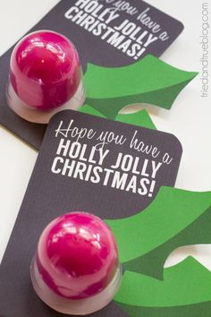 Last Minute Lip Balm Christmas Gift - Free Printable