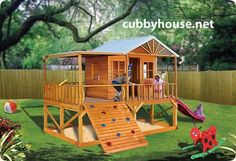 Blue Cockatoo cubby house, australian-made, wooden cubby house, diy cubby house kits, cubby houses Cubby House Kits, Cubby House Plans, Kids Cubby Houses, Kids Cubbies, Play Houses, Wooden Playhouse Kits, Backyard Playhouse, Build A Playhouse, Kids Indoor Playground