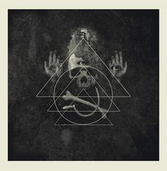 by Orion Landau Shout At The Devil, Rune Symbols, Zoom Photo, Book Cover Art, Macabre, Sacred Geometry, Techno, Black And Grey, Horror