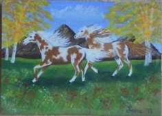 2013, Pinto/Paint Horses, ACEO Art Card, ebay@packrat-2013