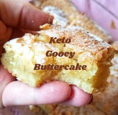 Keto Gooey Buttercake – Low Carb with the Carrs Its origin started in St.Louis,MO, but honestly I had not heard of it till a few days ago!It reminds me of a v Low Carb Sweets, Low Carb Desserts, Low Carb Recipes, Low Carb Cakes, Low Carb Meals, Sugar Free Recipes, Health Desserts, Easy Recipes, Keto Cookies