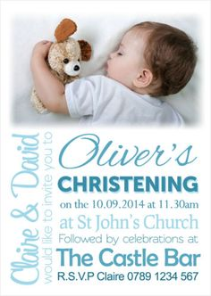 Details About Personalised Photo Boy  Girl Christening  Baptism