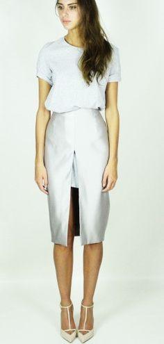 Kirsty Doyle/Jamie Satin & Jersey tee dress #aw13