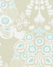 Tapet Estelle Soft Khaki Grey/Turquoise/ Cream White från Majvillan