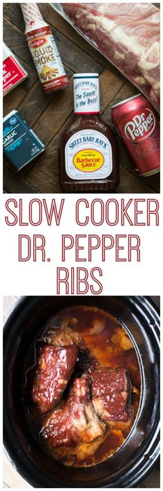 Slow Cooker Dr. Pepper Ribs! Perfect for a summer dinner!