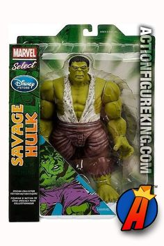 Disney Store Exclusive Marvel Select 7-inch scale Savage Hulk action figure from Diamond Select Toys. Please see our site for best pricing and availability. #hulk #marvelselect #actionfigures #diamondselect #avengers #actionfigures