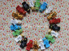 Bonecos Lego Ninjago, modelados em biscuit