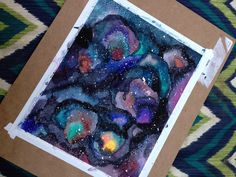 Galaxy Watercolor Technique Layers Watercolor Techniques, Watercolor Paintings, Feed The Monster, Watercolor Galaxy, Water Art, Photorealism, Paint Pens, Heart Art, Art Tutorials