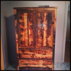 Old barn wood rustic armoire