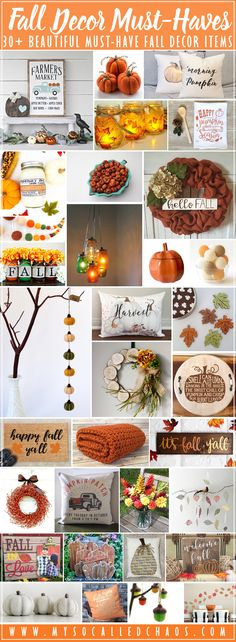 I'm SO ready for Fall, how about you? I may or may not have (definitely have haha) started sneaking bits of my Fall and Halloween decor out around the house... I don't care if it's August. I'm ready for Autumn, crisp air, colorful leaves, and pumpkins of all types!   30+ Fall Decor Must-Haves http://mysocalledchaos.com/2017/08/30-fall-decor-must-haves.html