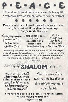 Peace Shalom