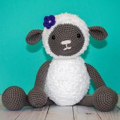 Crochet Stuffed Dolls Free Crochet Pattern for Crochet Lamb - The Friendly Red Fox, amigurumi, stuffed toy, Crochet Fox, Easter Crochet, Cute Crochet, Crochet Animals, Crochet Crafts, Crochet Dolls, Crochet Projects, Crochet Sheep Free Pattern, Crochet Stitches Patterns