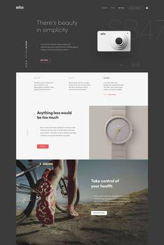 Braun #ui #ux #userexperience #website #webdesign #design