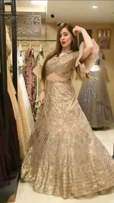 Asian Bridal Dresses, Indian Gowns Dresses, Pakistani Bridal Dresses, Indian Fashion Dresses, Dress Indian Style, Girls Fashion Clothes, Girls Dresses, Beautiful Dress Designs, Stylish Dress Designs