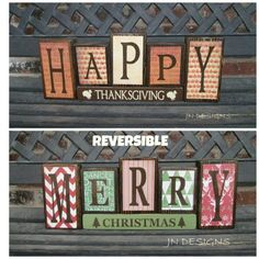 Thanksgiving is about celebrations and food. Thanksgiving is a great time to redecorate your property. Thanksgiving is the ideal time to appreciate th. Fall Crafts, Decor Crafts, Holiday Crafts, Holiday Fun, Diy Holiday Blocks, Craft Day, Craft Night, Christmas Projects, Christmas Diy