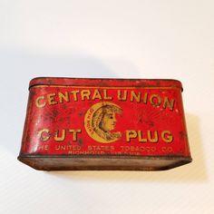 81b5cee0f8e Antique Central Union Cut Plug Tobacco Tin