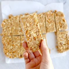 The Best Soft Granola Bars The BEST Soft Granola Bars recipe made with PB honey vanilla oats pretzels peanuts (and any other add-ins you like). So easy and SUPER yummy! The post The Best Soft Granola Bars appeared first on Star Elite. Healthy Sweets, Healthy Breakfast Recipes, Healthy Baking, Healthy Snacks, Snack Recipes, Cooking Recipes, Healthy Granola Bars, Granola Bar Recipe Easy, Protein Bar Recipes