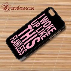 Woke Up Like This Beyonce Flawless Black Pink Album custom case for all phone case
