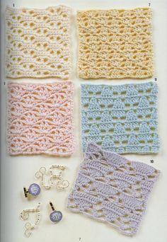 crochet home: Crochet stitches Crochet Diy, Crochet Home, Crochet Squares, Crochet Granny, Filet Crochet, Crochet Stitches Patterns, Crochet Designs, Stitch Patterns, Crochet Diagram