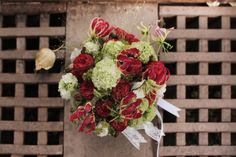 Jolly Bunch wedding bouquet red and green