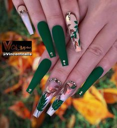 50 Beautiful Nail Art Designs & Ideas Nails have for long been a vital measurement of beauty and Bling Acrylic Nails, Best Acrylic Nails, Acrylic Nail Designs, Nail Art Designs, Gel Nails, Bling Nails, Green Nail Designs, Pastel Nails, Nail Nail