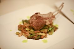 The (Ad Hoc) French Laundry: Double Rib Lamb Chops with Cassoulet of Summer Beans Meat Dish, Ad Hoc, Lamb Chops, It's Funny, Steak, Beans, Laundry, French, Dishes