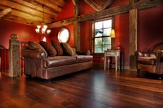 Reclaimed Walnut Hardwood Flooring by Olde Wood Limited Walnut Hardwood Flooring, Sofa, Couch, Hgtv, Home Goods, Home And Garden, Awesome House, Furniture, Home Decor