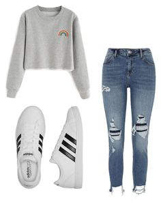 """Mila's casual wear"" by pantsulord on Polyvore featuring River Island and adidas"
