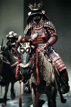 Mounted samurai.
