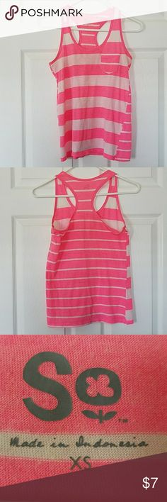 Razorback Pink and White Striped Tank Top Razorback Pink and White Striped Tank Top SO Tops Tank Tops