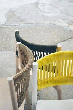 A detailed look at the Load Rope Chair designed by for - inspiration inredning - Chair Design Furniture Makeover, Diy Furniture, Furniture Design, Outdoor Furniture, Street Furniture, Furniture Logo, Garden Furniture, Vintage Furniture, Contract Furniture
