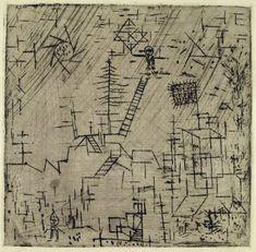 Der Magier im April 1928 (Radierung auf Zink)Paul Klee
