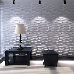 living room wall tiles - Decorative Wavy Wall Panel Design Pack of 12 Tiles 32 Sq Ft (Plant Fiber) Living Room Wall Decor Be sure to check out this helpful article. Decorative Wall Panels, 3d Wall Panels, Textured Wall Panels, 3d Wallpaper Living Room, Wall Wallpaper, 3d Wallpaper Designs For Walls, 3d Wandplatten, Panneau Mural 3d, White Brick Wallpaper