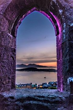 A veiw out the windown of McCaig's folly in Oban. That's Kerrera and Mull beyond. Scotland