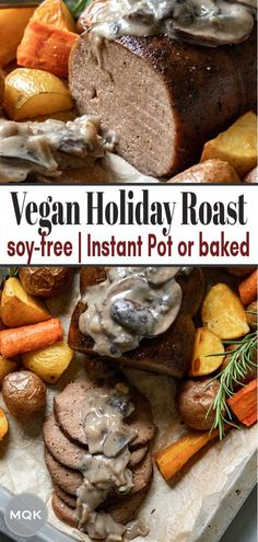 Seitan Roast Recipe, Seitan Recipes, Vegan Roast, Vegetarian Appetizers, Vegetarian Recipes, Vegan Meals, Vegan Turkey, Vegan Thanksgiving, Vegan Christmas