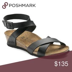 418e4b074c9 Birkenstock Papillio Black Lola Leather Womens The Lola - a new wedge sandal  from Papillio with