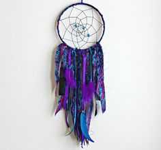 Dream Catcher, Large Dreamcatcher, Boho Dreamcatcher, Boho Chic, Bohemian Decor, Feather Dreamcatcher, Tribal, Native American, Jewel Tones