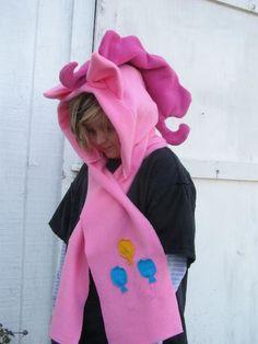 My Little Pony Custom plush Hoodie Scarf MeMe PINKIE PIE Hat hood MLP FIM | eBay YES PLEASE!