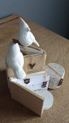 Collier doré renard origami bambou par LesbijouxdeManon sur Etsy